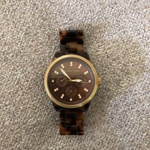 Michael Kors Tortoise Shell and Gold Woman's Watch
